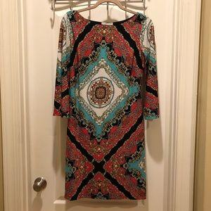 Colorful and comfortable print dress